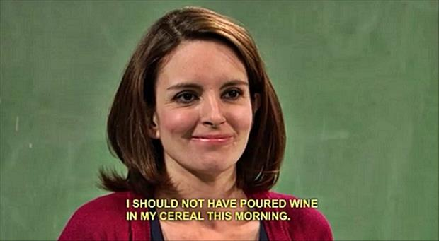 Wine in my cereal